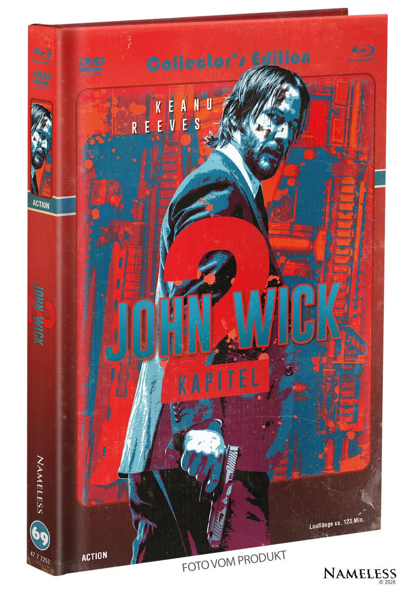 John Wick: Kapitel 2 (Lim. Uncut Mediabook - Cover C) (DVD + BLURAY)