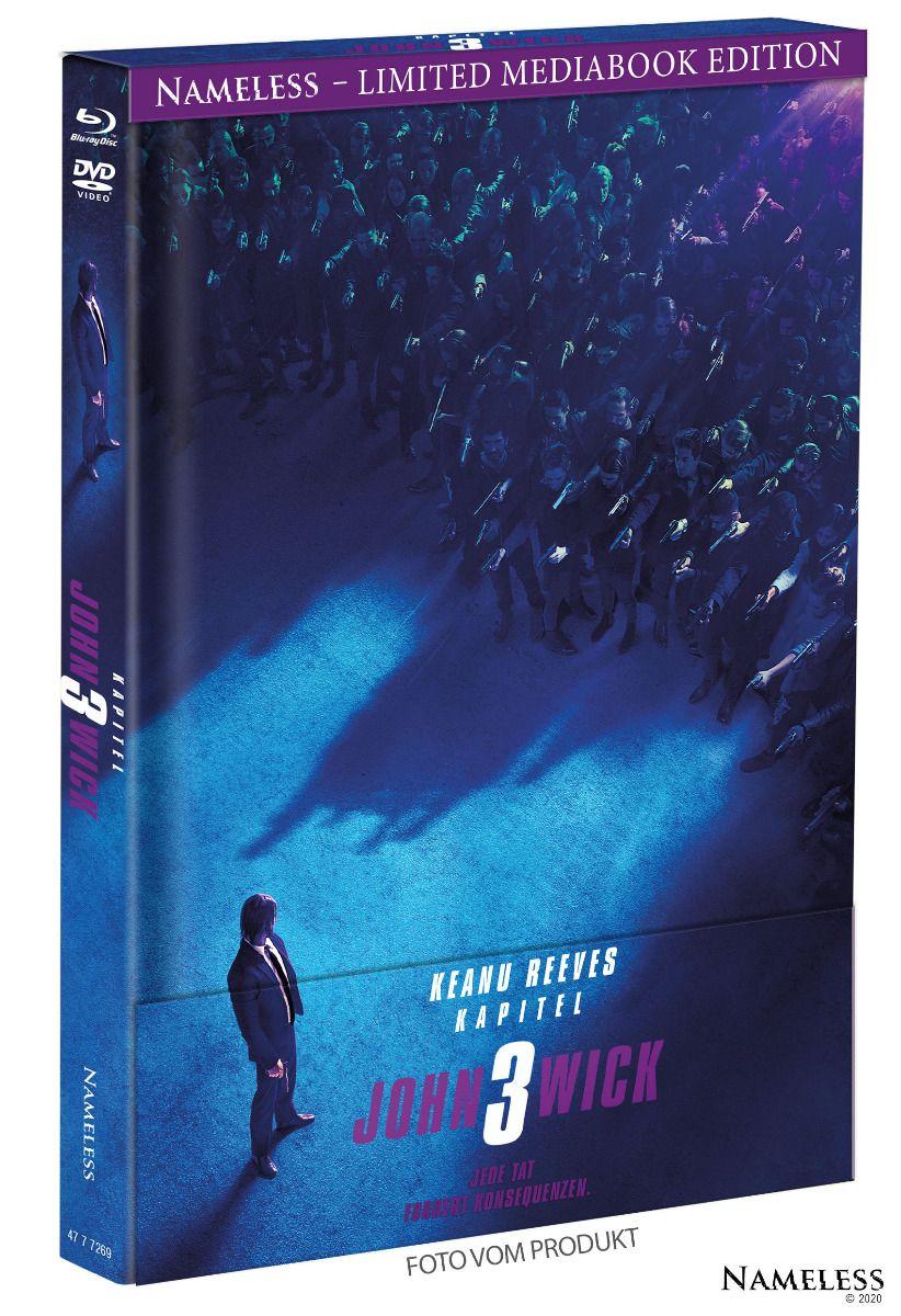 John Wick: Kapitel 3 (Lim. Uncut Mediabook - Cover A) (DVD + BLURAY)