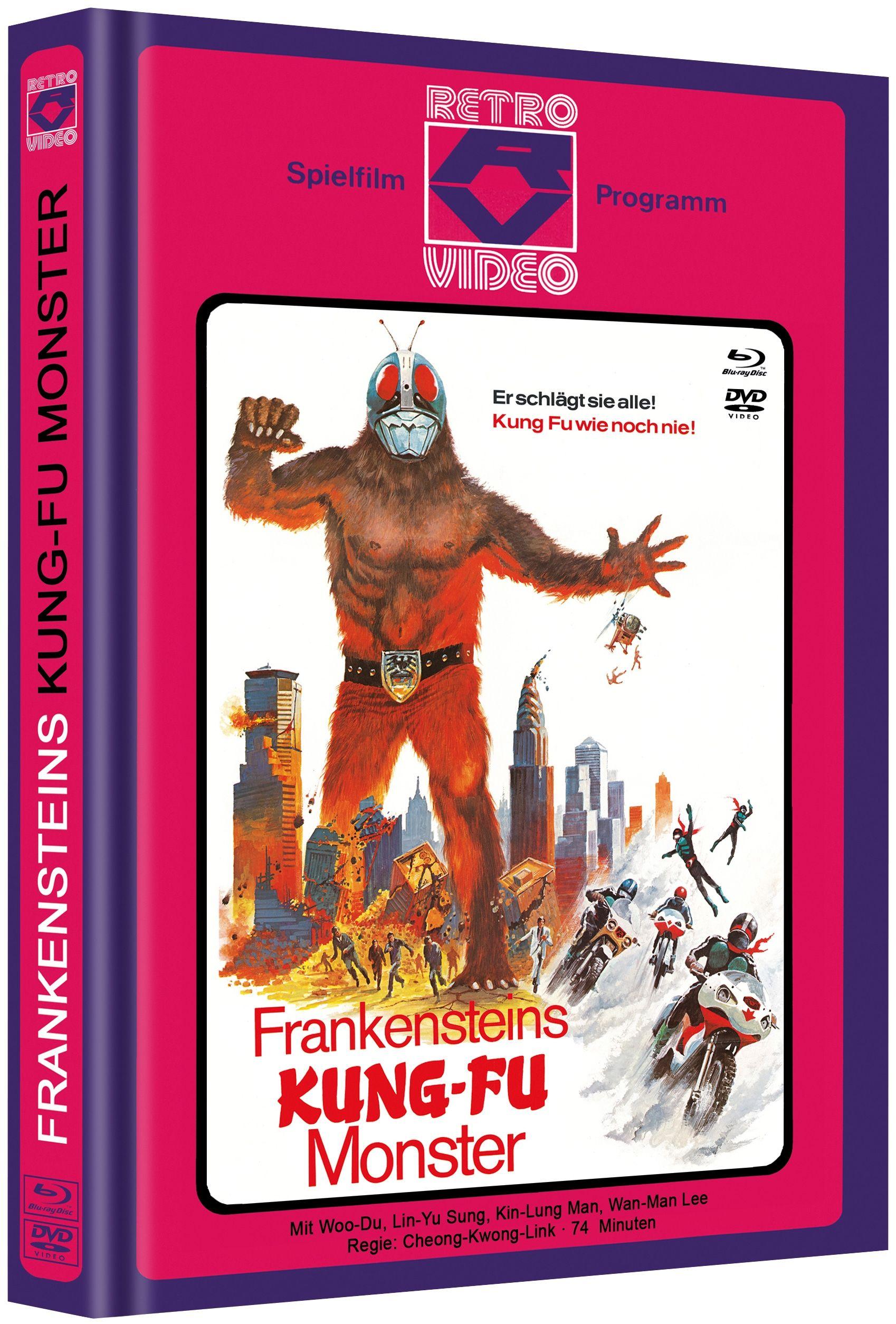 Frankensteins Kung-Fu Monster (Lim. Uncut Mediabook - Cover C) (DVD + BLURAY)