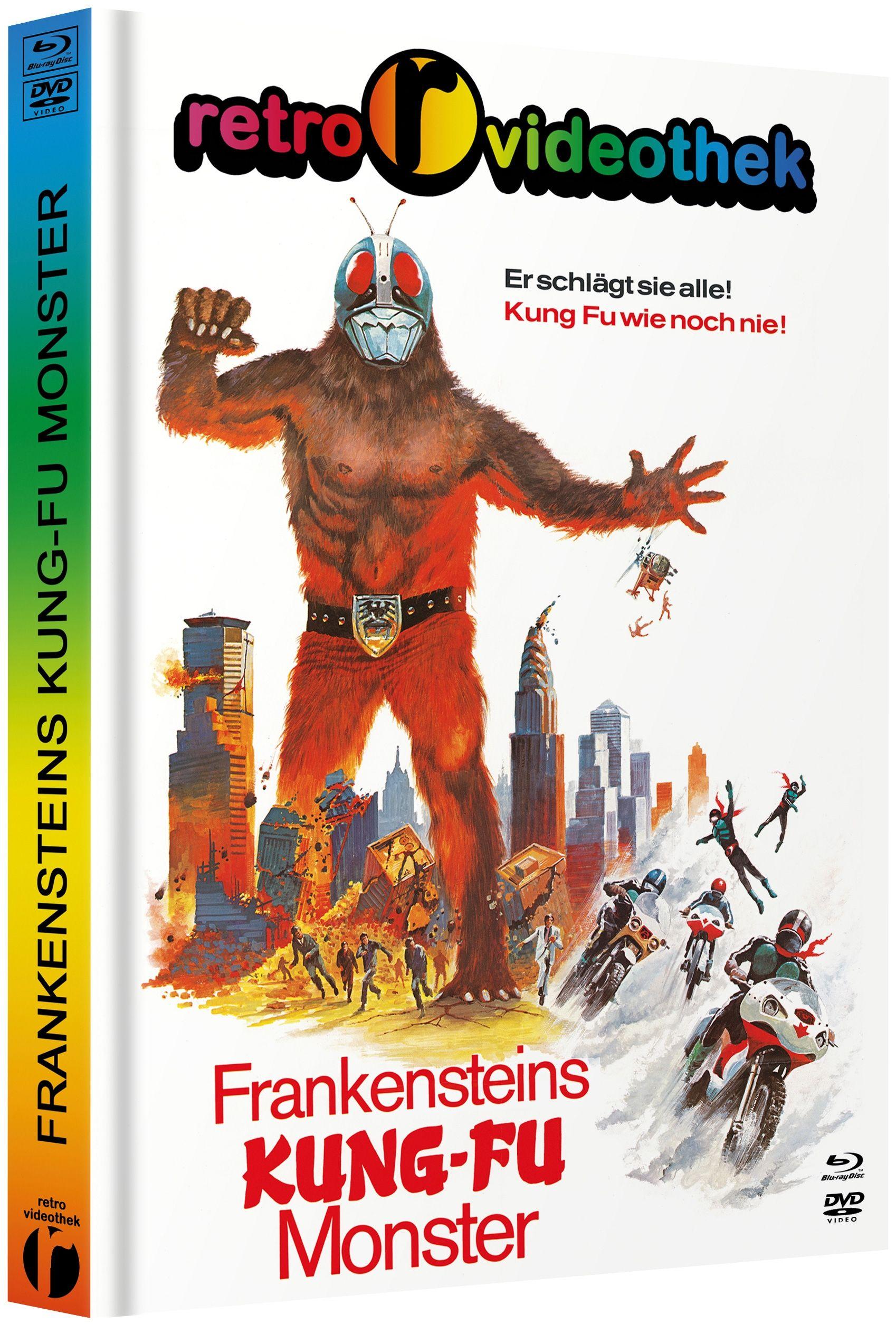 Frankensteins Kung-Fu Monster (Lim. Uncut Mediabook - Cover D) (DVD + BLURAY)