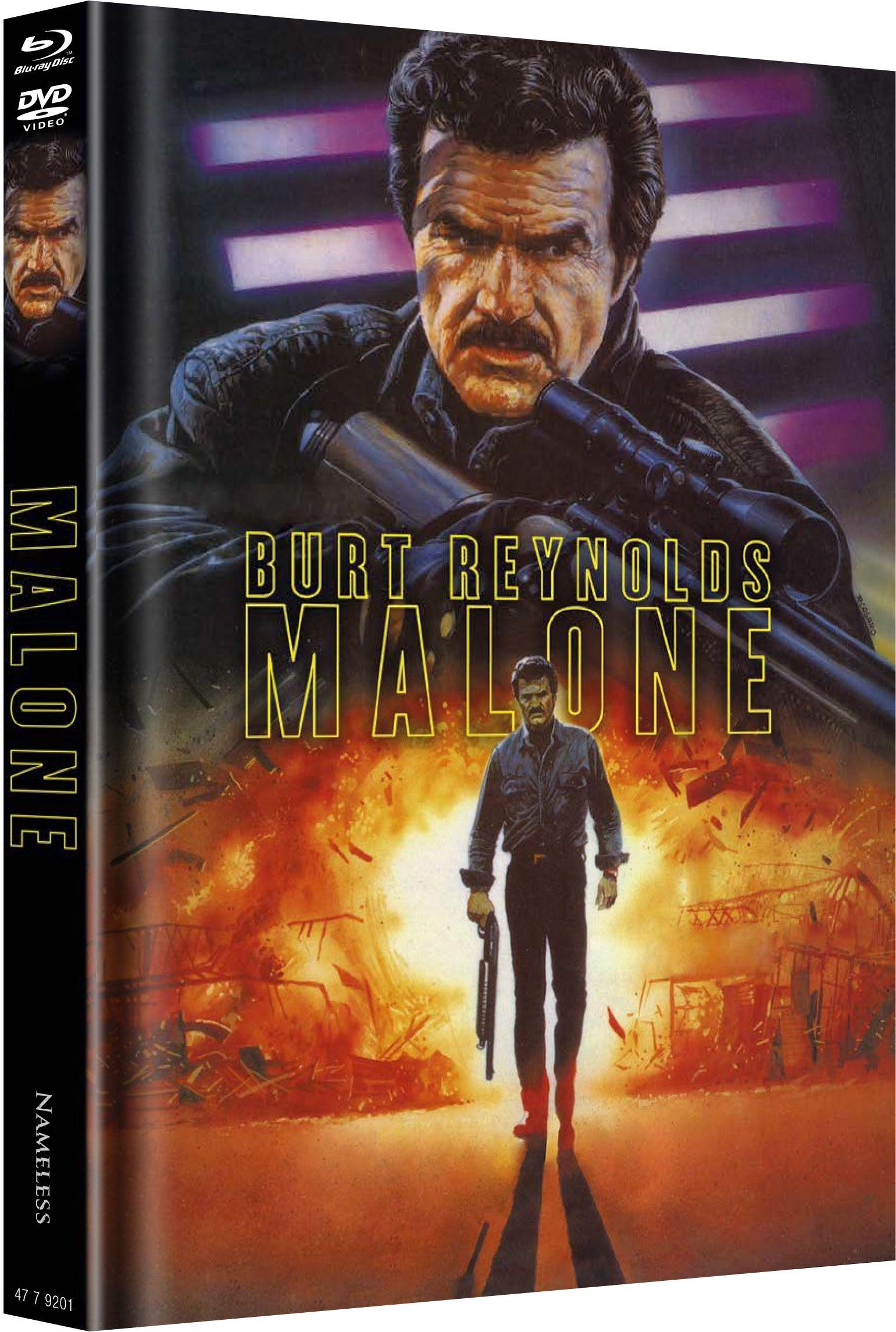 Malone - Nichts wird ihn aufhalten können (Lim. Uncut Mediabook - Cover A) (DVD + BLURAY)