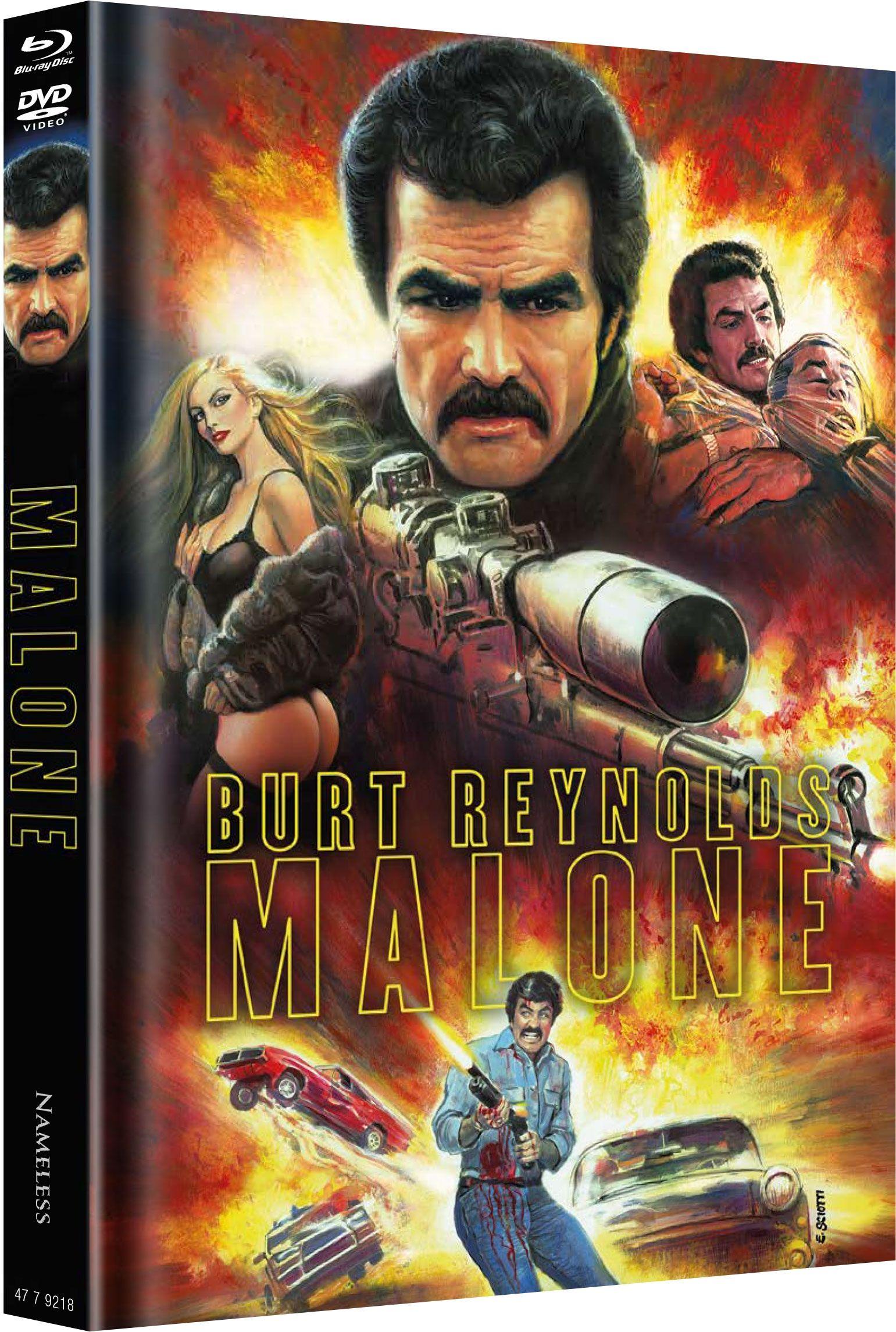 Malone - Nichts wird ihn aufhalten können (Lim. Uncut Mediabook - Cover B) (DVD + BLURAY)