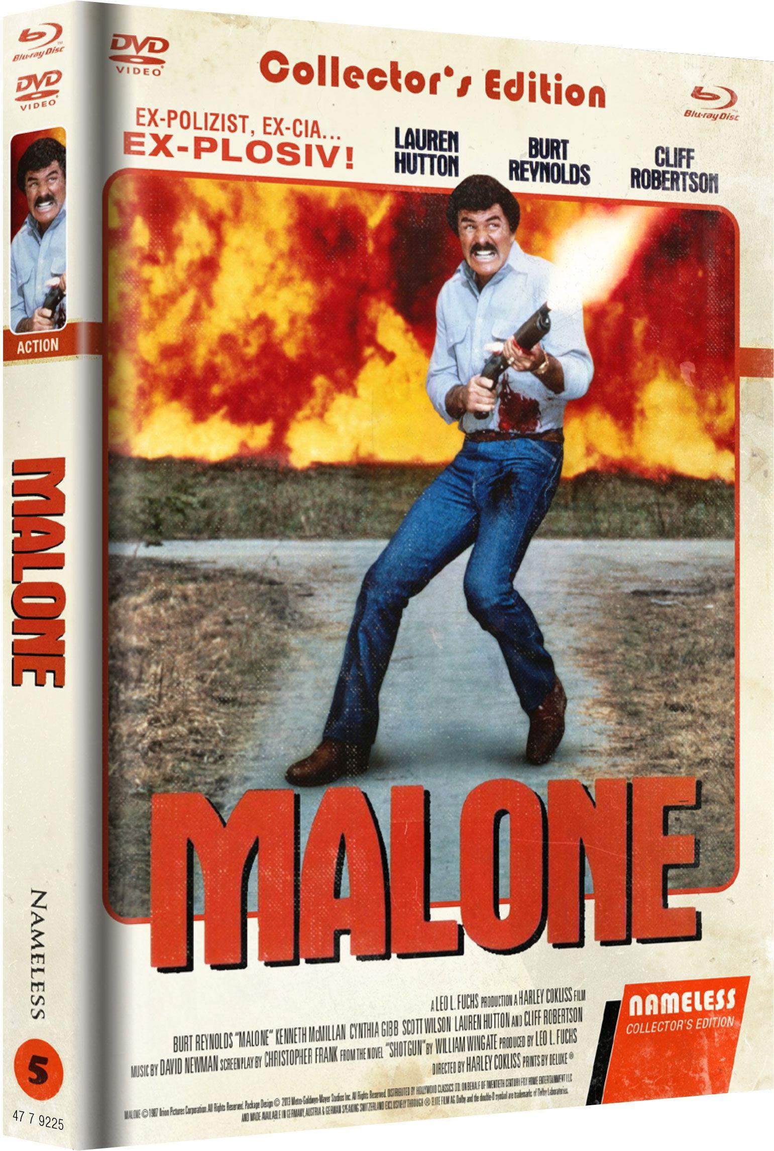 Malone - Nichts wird ihn aufhalten können (Lim. Uncut Mediabook - Cover C) (DVD + BLURAY)