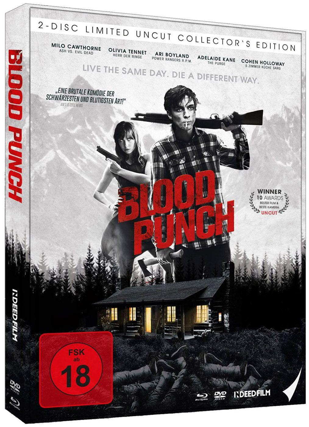 ** B-WARE ** Blood Punch - Und täglich grüsst der Tod (Lim. Uncut Mediabook) (DVD + BLURAY) ** B-WARE **