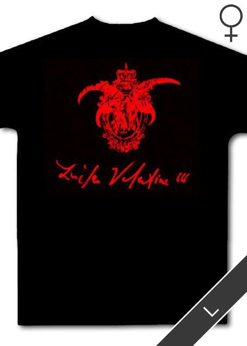 Kingdom of Hell / Lucifer Valentine (Vomit Gore) Girlie Shirt (schwarz, Größe: L)